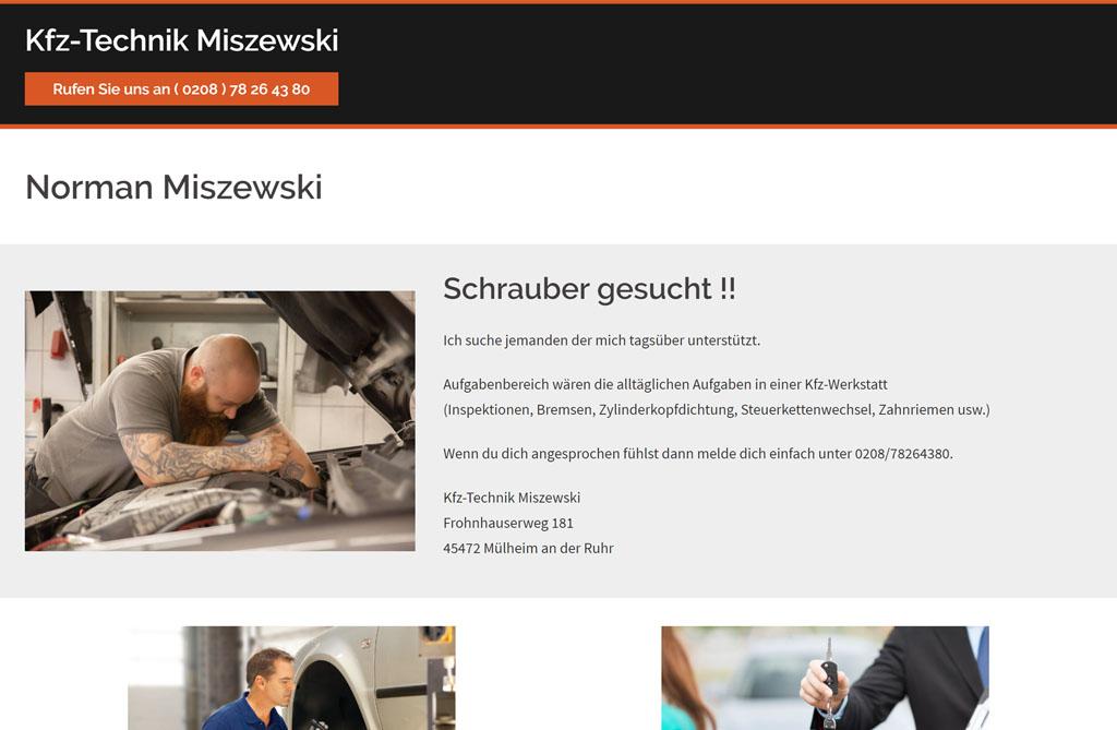 Portfolio - Kfz-Technik-Miszewski.de